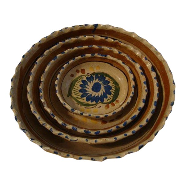 Tlaquepaque Mexican Nesting Bowls - Set of 4 For Sale