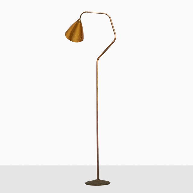 "Brass Karl Hagenauer ""Flamingo"" Floor Lamp For Sale - Image 7 of 7"