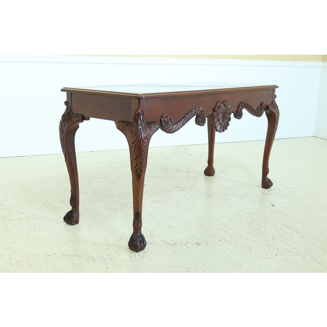 Chippendale Baker Irish Georgian Style Mahogany Console Table For Sale - Image 3 of 13