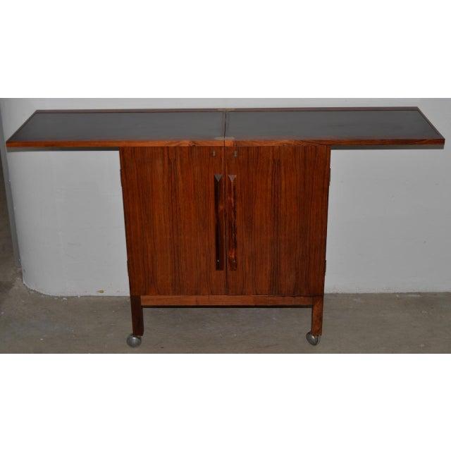Danish Modern Danish Modern Rosewood Bar Cart by Torborn Afdal for Mellemstrands C.1960s For Sale - Image 3 of 13