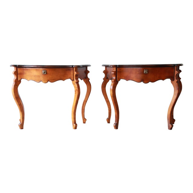 Baker Furniture Milling Road French Console Tables For Sale