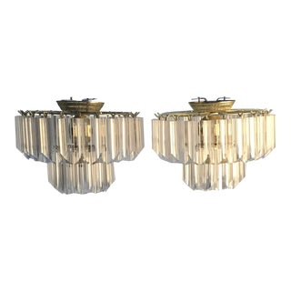 1970s Vintage Lucite Chandeliers - a Pair For Sale