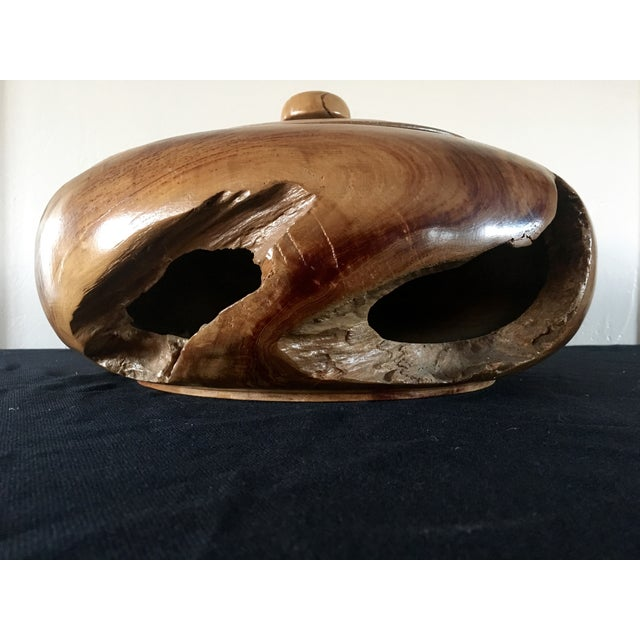 Burlwood Bowl with Lid - Image 2 of 5
