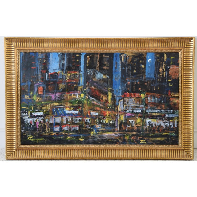 Juan Guzman Los Angeles Cityscape Abstract Painting For Sale - Image 10 of 10
