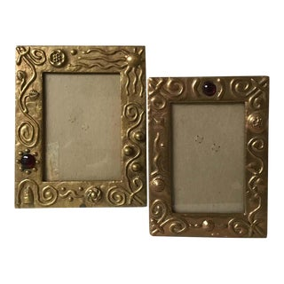 Pair of Bronze Contemporary Frames For Sale