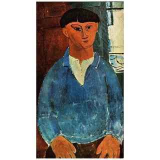 1940s Amedeo Modigliani Swiss Plate After Portrait of the Painter Kisling For Sale