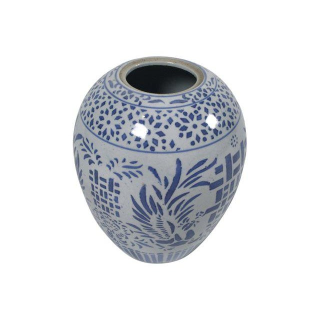Blue & White Ginger Jar For Sale - Image 5 of 5