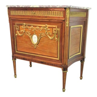 19th Century Louis XVI Marble Top Ormolu Commode