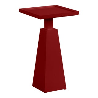Casa Cosima Hayes Spot Table, Classic Burgundy For Sale