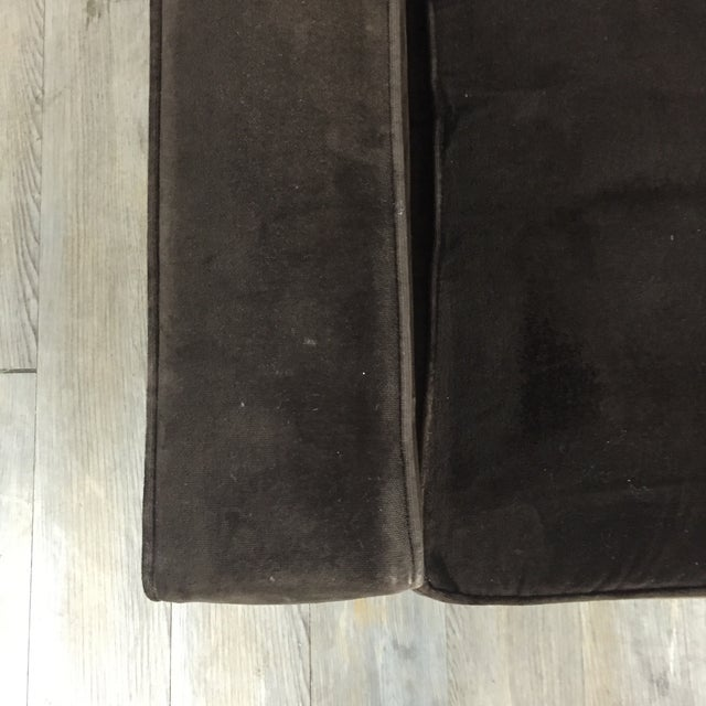 Room & Board Brown Suede Club Chair - Image 6 of 11