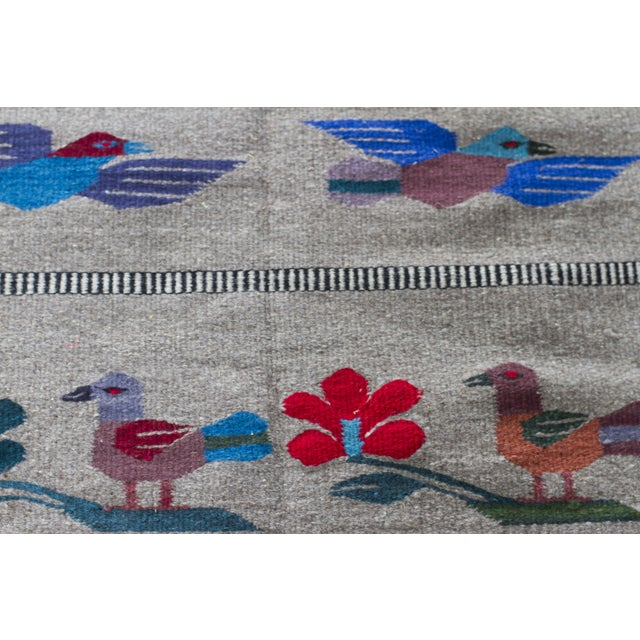 "Mexican Gray Wool Rug - 2'6"" X 4'11"" - Image 4 of 7"