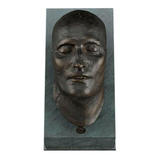 Bronze Death Mask of Napoleon i For Sale
