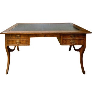 Late 20th Century English Traditional Leather Top Writing Desk For Sale