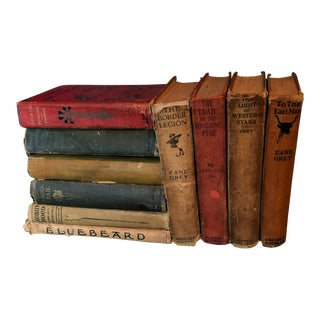 First Edition Antique Western and Fiction Book - Set of 10 For Sale