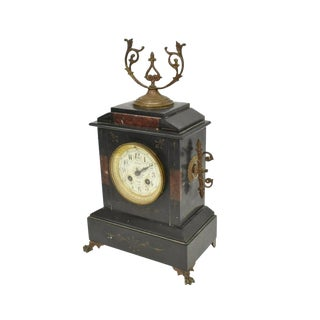 19th Century French Napoleon III Second Empire Mantle Clock For Sale