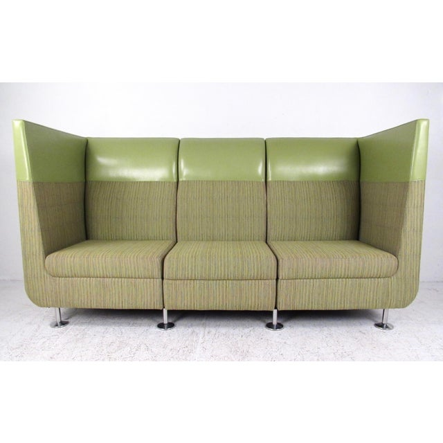 Stylish Modern Booth Style Sofa For Sale - Image 13 of 13
