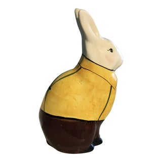 Suited Painted Rabbit Figurine