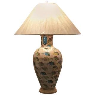 Antique Persian Ceramic Table Lamp For Sale