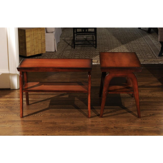 1954 Restored Pair of End Tables by John Wisner for Ficks Reed For Sale - Image 11 of 13