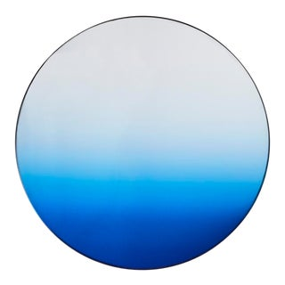 Minimalist Gradient Round Wall Mirror For Sale