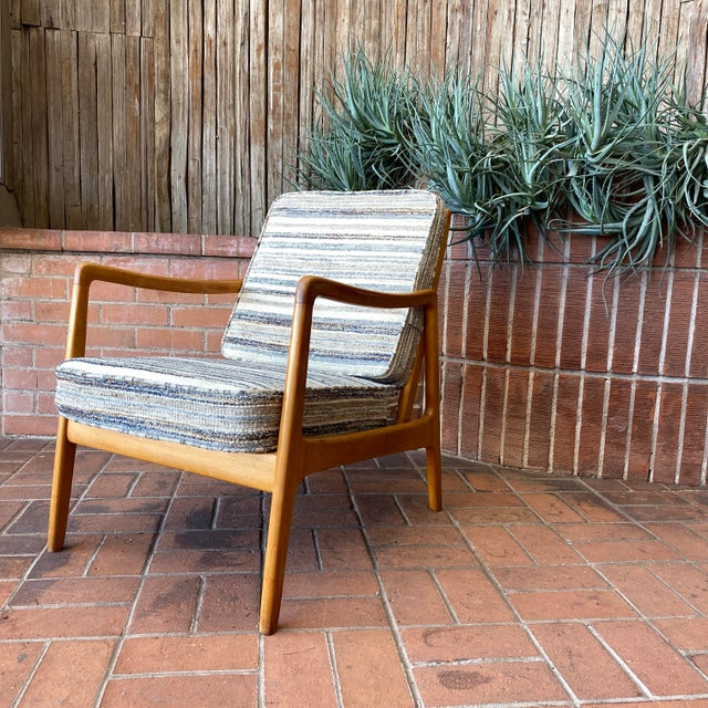 Mid-Century Modern Mid-Century Modern Ole Wanscher Lounge Chair for France & Daverkosen For Sale - Image 3 of 9