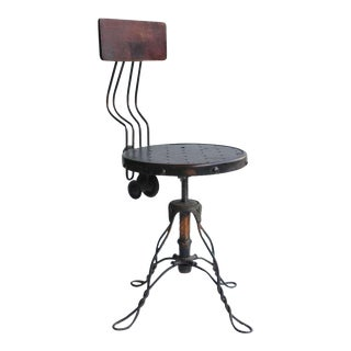 Antique Copper Swivel Desk Chair