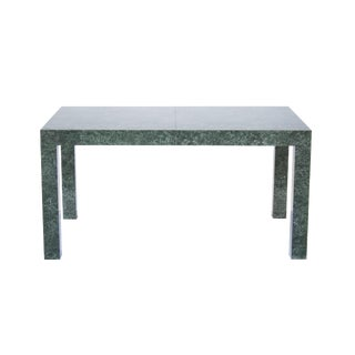 Parsons Dining Table or Desk in Faux Green Marble Laminate