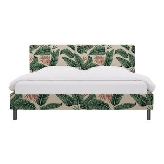 King Tailored Platform Bed in Banana Palm For Sale