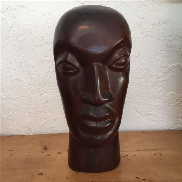 Traditional Vintage Hand Carved Ironwood Bust Sculpture For Sale - Image 3 of 9