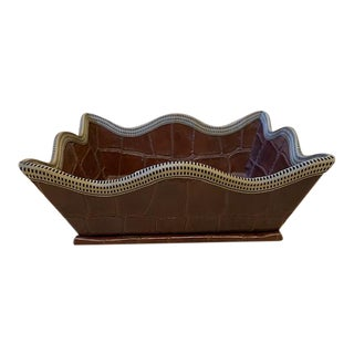 Faux Alligator Catchall For Sale