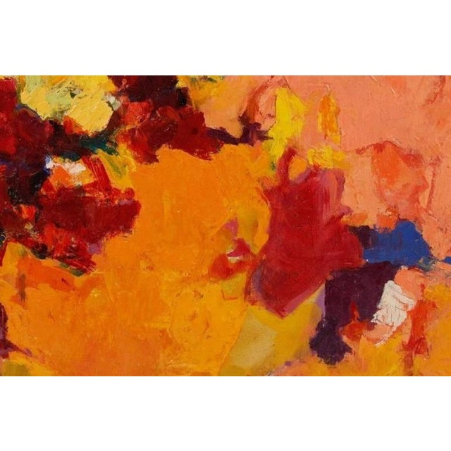 1957 Abstract Multi-Color Framed Oil on Canvas Painting by Carol Haerer For Sale - Image 4 of 9