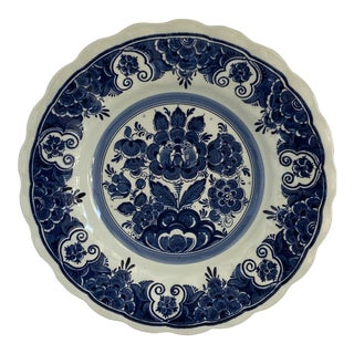 1980s Delft Blue and White Hanging Plate For Sale