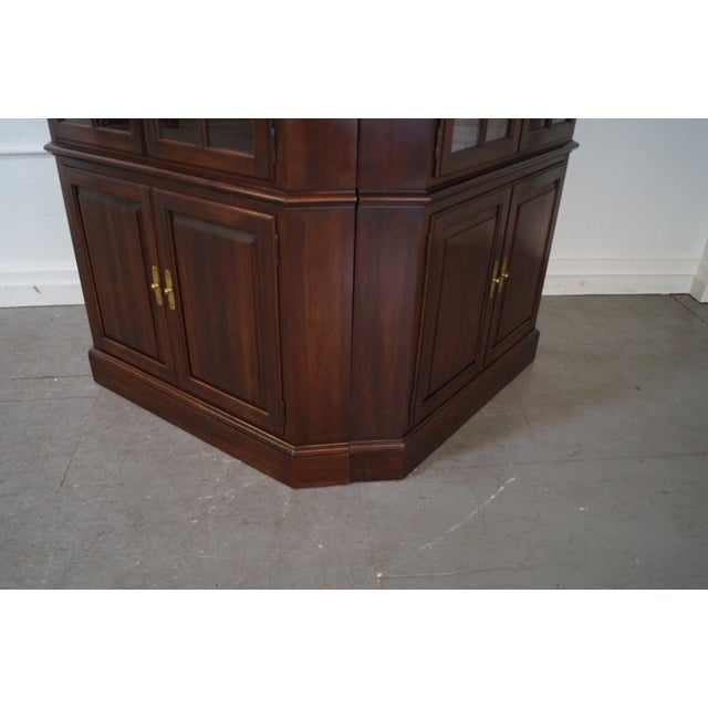 Ethan Allen Georgian Court Cherry Cabinets - Pair - Image 9 of 10