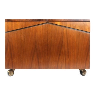 Lane Walnut Record Storage Chest For Sale