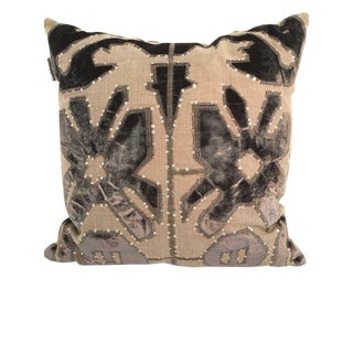 Adam and Viktoria Swedish Natural Linen Tischa Pillow For Sale