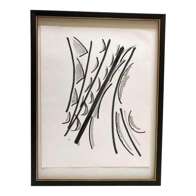 Abstract Ink Wash 13 X 17 Original by Erik Sulander For Sale