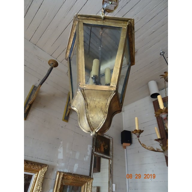 New French Iron Gold Lantern For Sale - Image 12 of 13