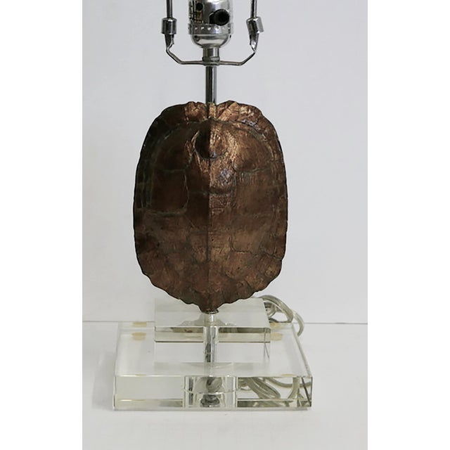 Gold Leaf Tortoise Lamp For Sale - Image 4 of 5