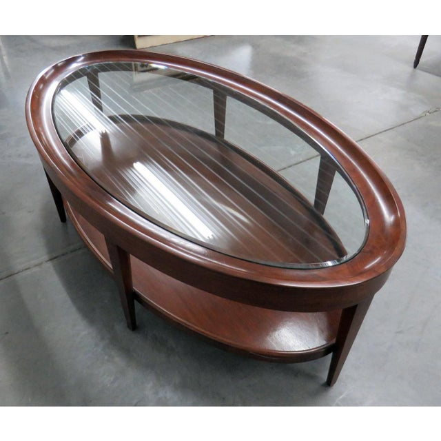 Early 21st Century Modern Design Glass Top Coffee Table For Sale - Image 5 of 6