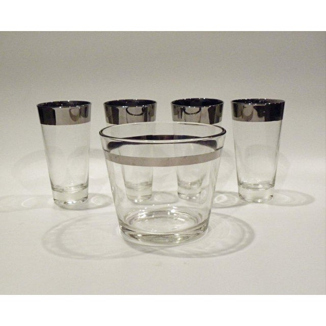 1960s Vintage Mid Century Bar Glass Set - 9 Pieces For Sale - Image 5 of 6