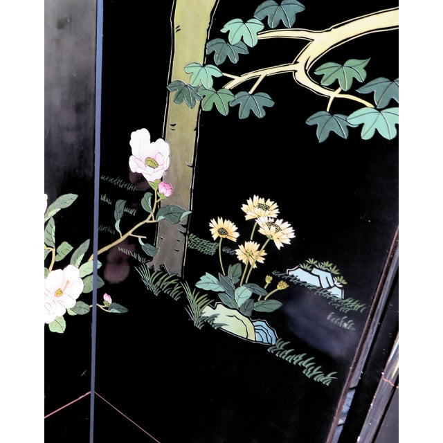 Brass 1940's Monumental 6-Panel Japanese Screen For Sale - Image 7 of 8