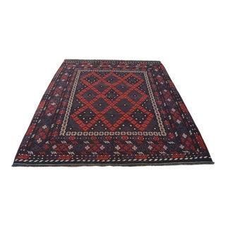 Square Afghan Vintage Rug Kilim For Sale