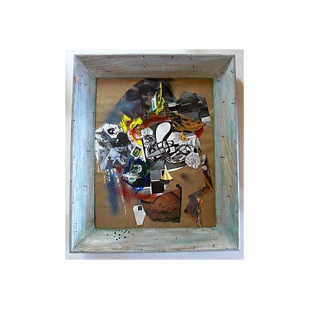 Original paper abstract collage of mixed-media and paint representing composing fragments of Hans Hofmann and Otto...