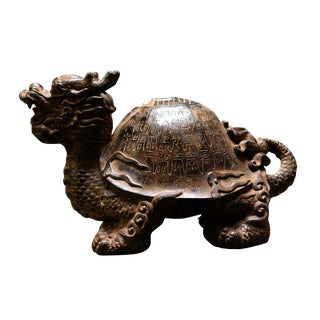 Chinese Dragon Turtle Figure For Sale