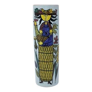 Stig Lindberg Karneval Ceramic Vase for Gustavsberg For Sale