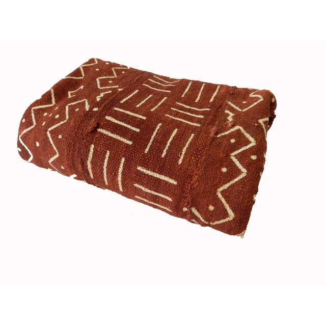 African Chocolate & Ivory Mud Cloth - Pair - Image 6 of 9