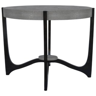 Grey Shagreen Side Table For Sale