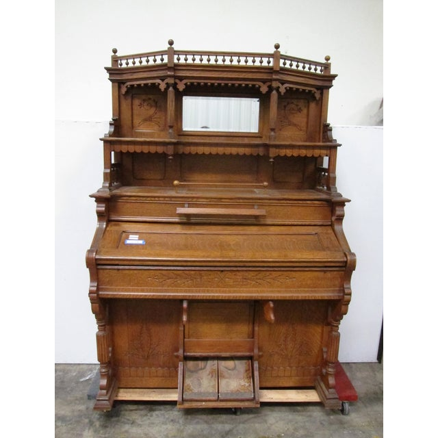 A beautiful antique organ with a history that can be traced back to the late 1880s. There are a few surface stains, but...