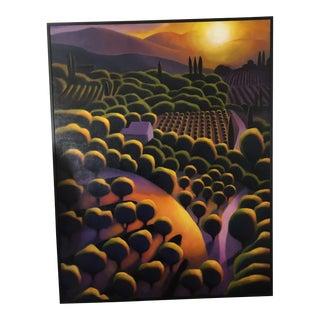 Dan Berkland Tuscan Landscape Painting For Sale