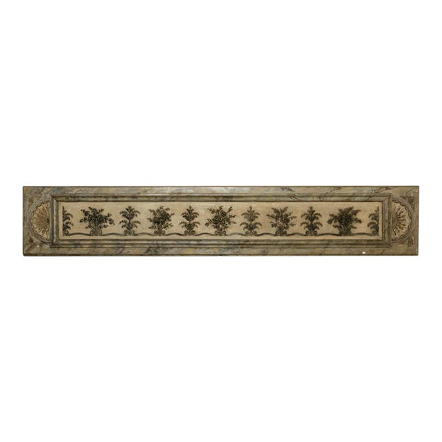 Antique Italian Long Narrow Hand Carved Wood Architectural Piece - Image 1 of 6